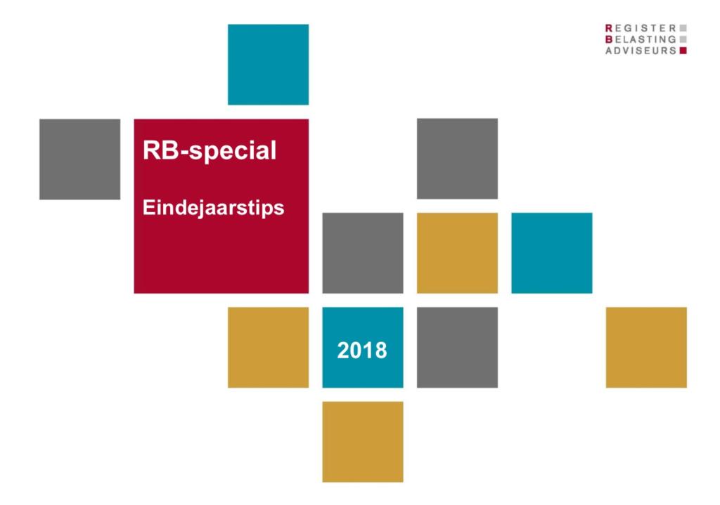 RB Eindejaarstips 2018 - optumaal.nl